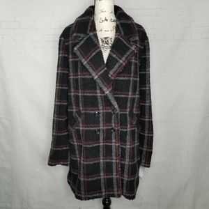 Paige Double Breasted Coat Women Size Large